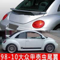 for Volkswagen Beetle spoiler 1998 2010 FRP fiberglass Unpainted Rear Roof Spoiler Wing Trunk Lip Boot Cover Car Styling