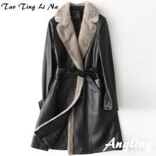 2018 New Fashion Genuine Sheep Leather Coat H51