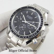 BLIGER Men's Watch Black Dial Mental Strap Date Indicator 40mm Watch