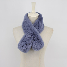 2019  New Fashion Leather Grass Scarf Female Rabbit Fur Woven Handmade Enough Flower Cross