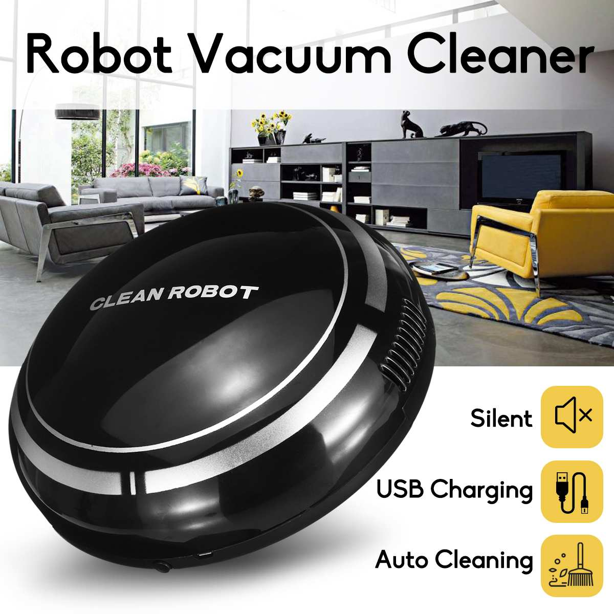 Smart Automatic Robot Vacuum Cleaning Machine Intelligent Floor Sweeping Dust Catcher Carpet Cleaner For Home Automatic Cleaning(China)