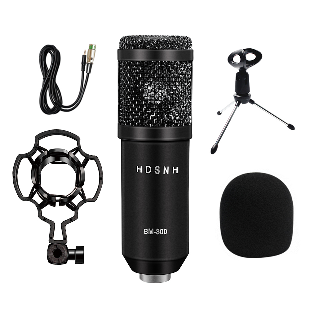 Bm800 Professional Condenser Sound Microphone Kit Bm 800 Conference Karaoke Bm 800 Dynamic Microphone Mic Wire With Shock Mount in Microphones from Consumer Electronics