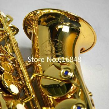 JUPITER JAS-769 New Arrival Alto Eb Tune saksofon mosiądz Instrument muzyczny złoty lakier Sax z przypadku ustnik darmowa wysyłka tanie i dobre opinie MARGEWATE Falling Tune E (F) Bakelite Brass Gold Lacquer