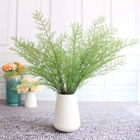 Wenchang 9 garfo Fio de Ferro de Bambu Verde da Vegetação Planta Artificial Imitação de Flores Arranjo de Flores de Plástico Auxiliar De Parede W|  -
