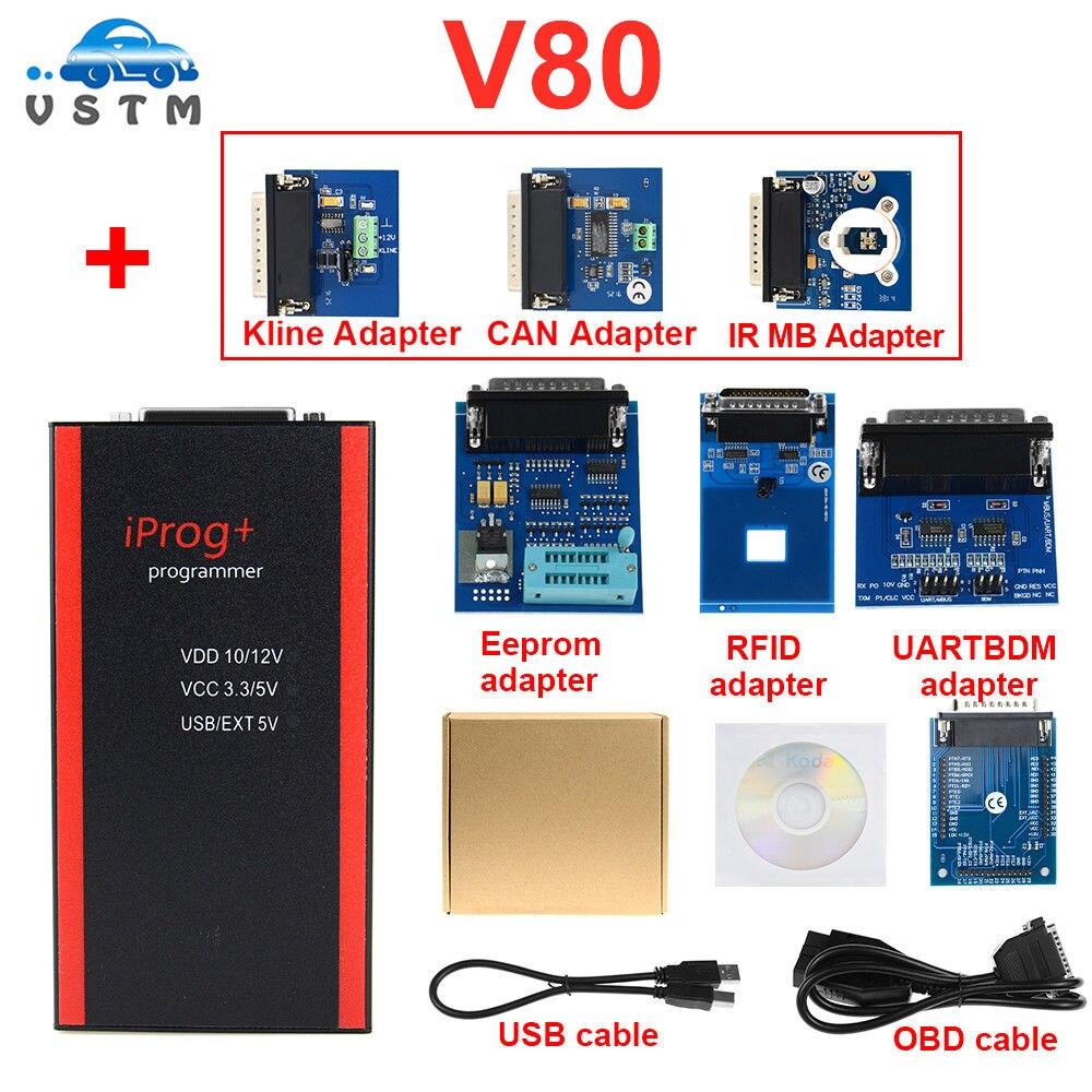 Новый V80 IPROG Porgrammer IR MB адаптеры IPROG Pro CAN BUS адаптер IPROG + Kline адаптер Бесплатная доставка on