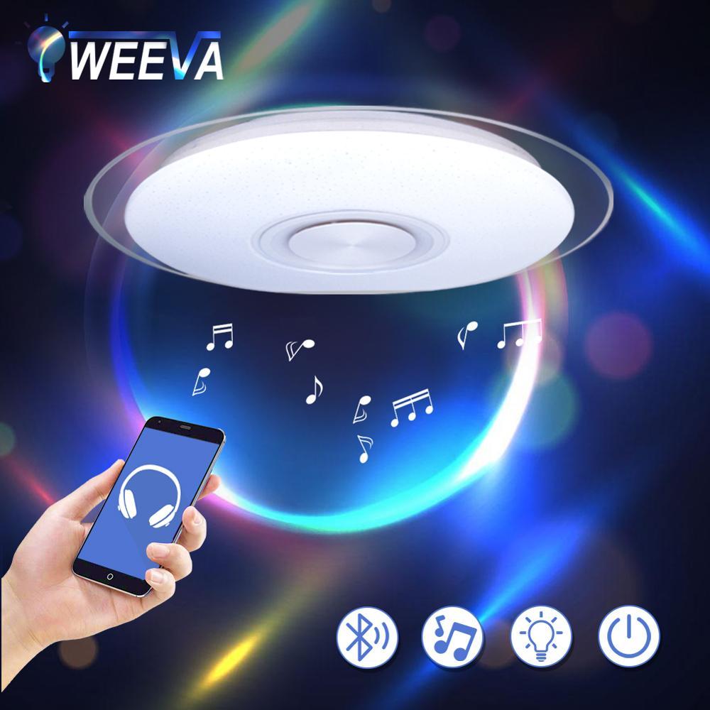 Modern LED Ceiling Light Bluetooth Music RGB Dimmable Lamp 36W 40W APP Remote Control AC 220V Innrech Market.com