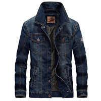 Мужская джинсовая куртка, весенне-осенняя Тонкая Повседневная куртка в стиле ретро, 4XL BY66008A