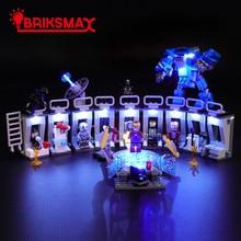 BriksMax Led Light Up Kit For Tony Stark Armored hall Building Blocks Compatible With 76125 сумка tony perotti tony perotti mp002xw123x1