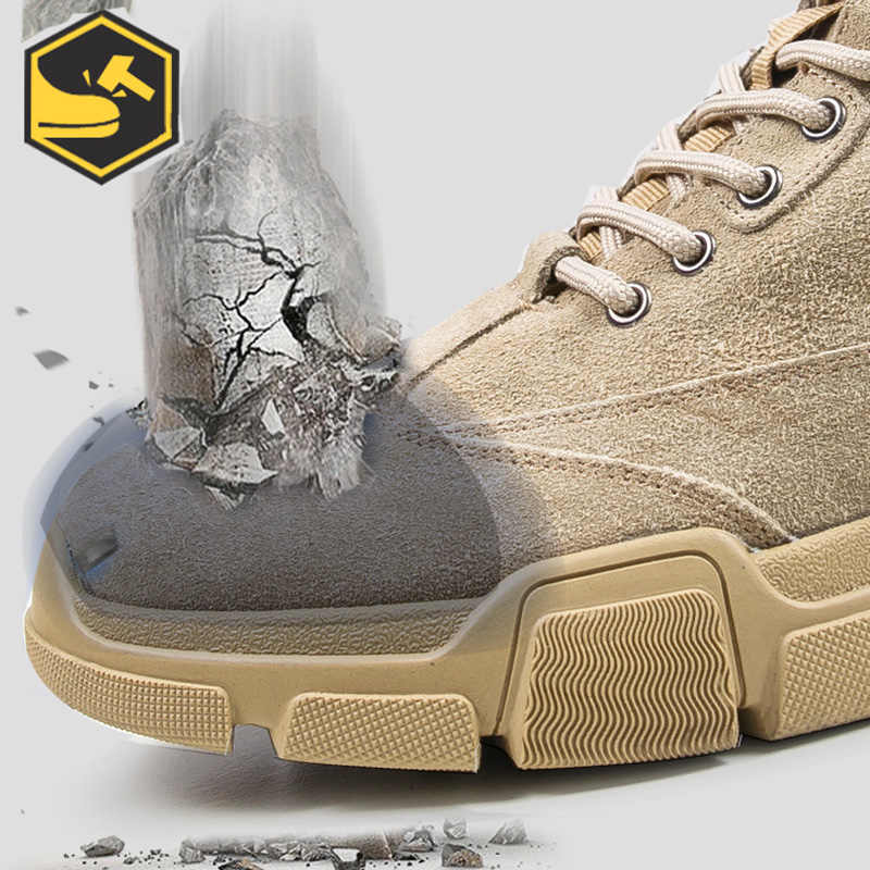 Wildleder Leder Stahl Kappe Schuhe Athletisch Arbeit Schuhe für Männer Nicht-Slip Industrie & Bau Arbeit Sicherheit Stiefel Winter stiefel Männer