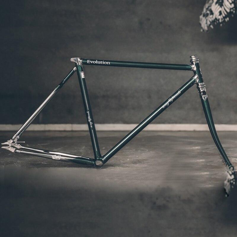 700C Bike Road Bike Frame 4130 Chrome Molybdenum Customized Bicycle Frame 58cm 60cm Chrome Molybdenum Steel Lug Bicycle Frame