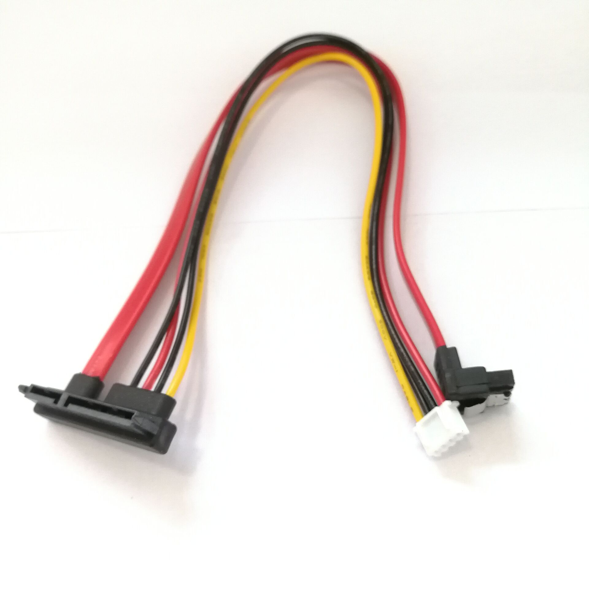 90 Degree  22P SATA 7+15P 22pin To SH 2.0 4pin Power Right Angled SATA  HDD Hard Disk High Speed Computer Data Power Cable