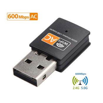 2 4GHz + 5GHz dwuzakresowy 600 mb s Adapter USB Wifi bezprzewodowy karta sieciowa bezprzewodowy Adapter USB WiFi Adapter USB WiFi Adapter wifi PC karta sieciowa tanie i dobre opinie USLION 600 Mbps CN (pochodzenie) Zewnętrzny wireless ETHERNET Pulpit 802 11n 802 11a g 802 11ac 28mm USB2 0 2 4G i 5G 600M USB WiFi Adapter