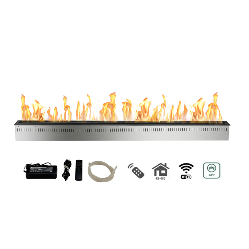 72 Inch Modern Smart Fireplace