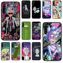 Ricks cartoon śliczne Mortys Etui na telefon do Xiaomi Redmi Note 4A 4X 5 6 6A 7 7A 8 8A 4 5 5A 8T Plus Pro czarne Etui 3D coque(China)