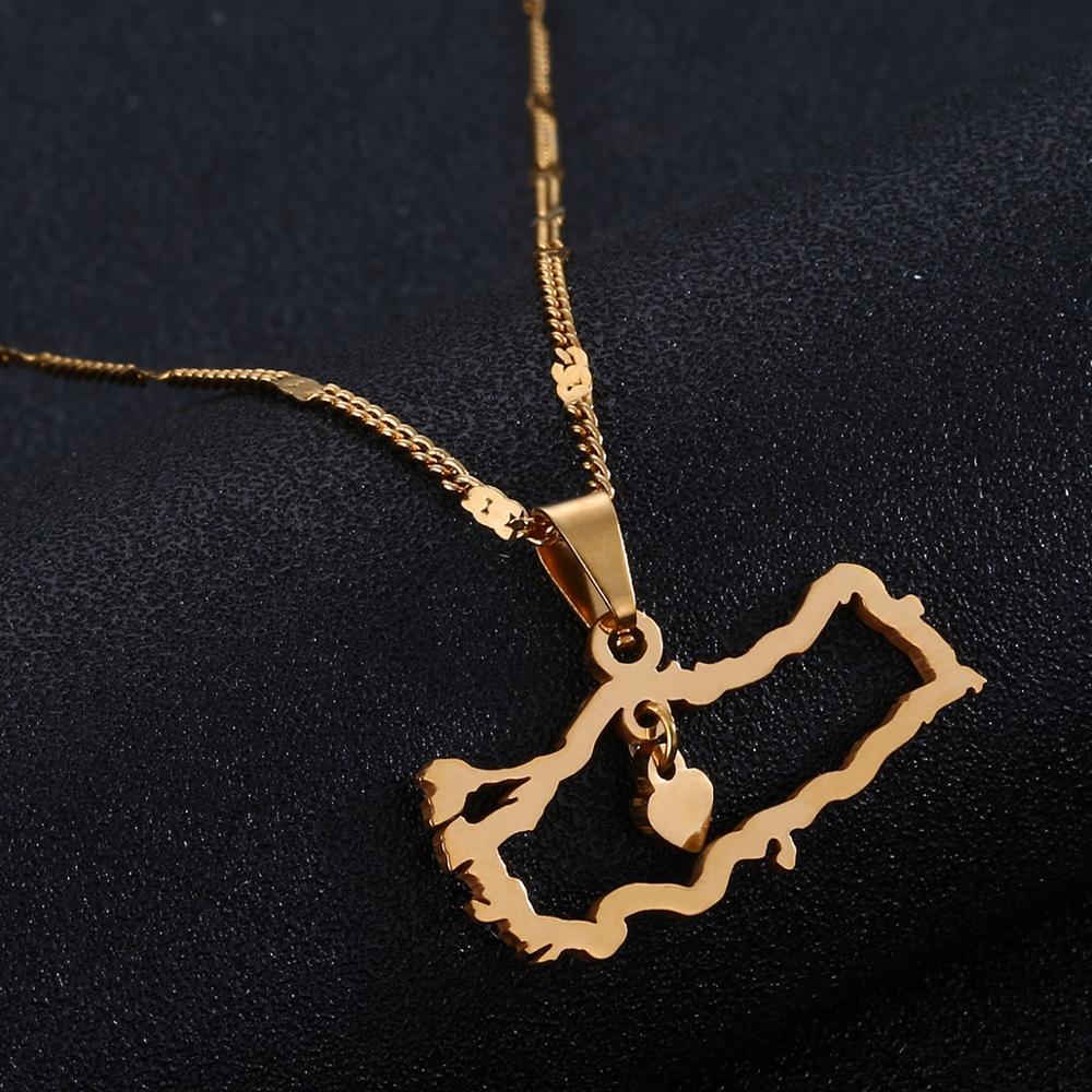 Кулон из нержавеющей стали с изображением турецкой карты, Трендовое ожерелье с турецким флагом и сердцем, ювелирные изделия с дизайном «кар...