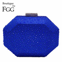 Boutique De Fgg Bát Giác Hình Nữ Pha Lê Ly Hợp Buổi Tối Túi Ốp Lưng Cứng Cao Cấp Túi Xách Nữ Kim Loại Ly Hợp Cưới Ví