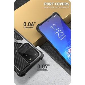Image 4 - Pour Samsung Galaxy S20 Ultra Case/S20 Ultra 5G boîtier i blason transformateur double couche robuste pare chocs avec béquille intégrée