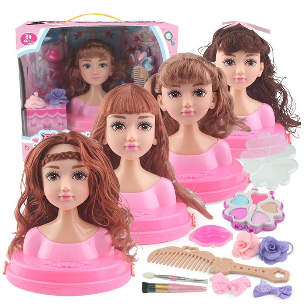 Barbie Dolls Girl Toy Half Body Can Make Up Hairdressing Barbie Princess Children Gifts Box Set Barbie Accessories