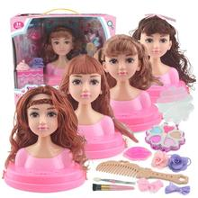 Barbie Dolls Girl Toy Half Body Can Make Up Hairdressing Princess Children Gifts Box Set Accessories