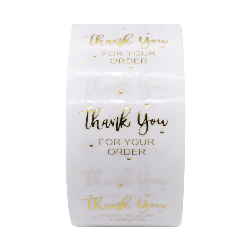 """""""THANK you for your order""""sticker for envelope sealing labels sticker black pink transparent gold sticker stationery supply 6"""