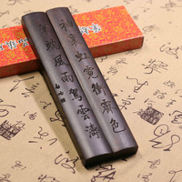 Paperweight madeira maciça chinesa clássica caligrafia paperweight 2 pçs pincel tinta pintura especial escultura paperweight