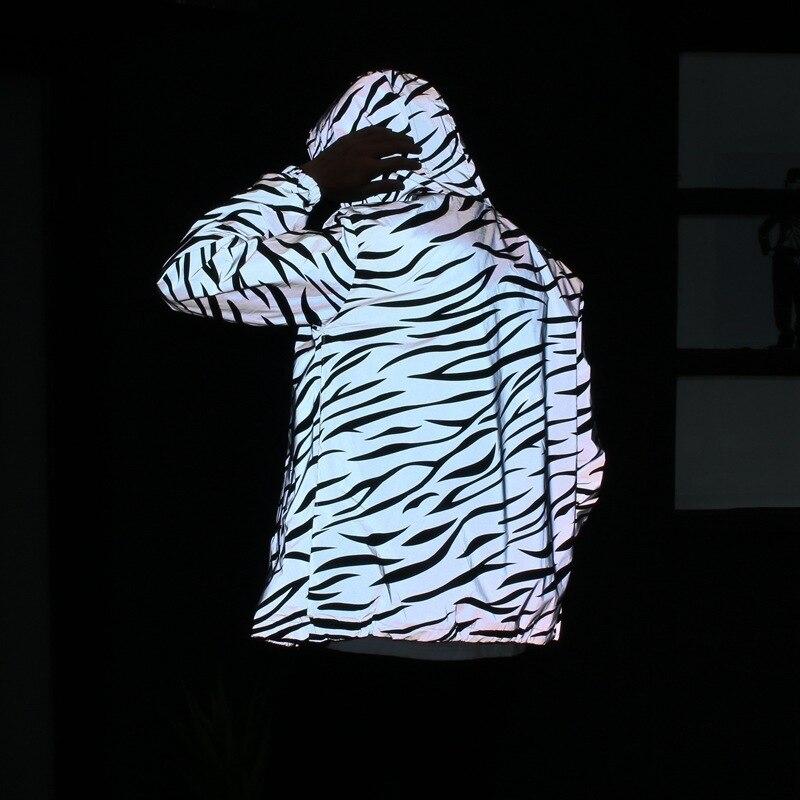 Jacket Double-Windbreaker Casual Wear Couple Class-Service Q Youth Reflective Tide Zebra