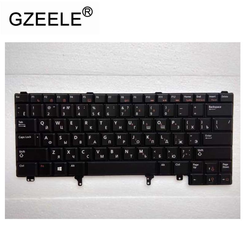 GZEELE Russian Laptop Keyboard For DELL E6420 E5420 E5430 E6220 E6320 E6330 E6420 E6430 RU With Backlight Laptop Keyboard Black