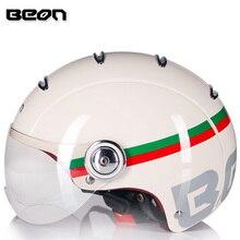 BEON retro half helmet beon open face motorcycle helmet vintage casque moto casque casco capacete