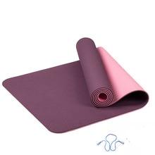 6mm tpe tapete de yoga anti deslizamento esportes fitness exercício pilates ginásio colchonete para iniciantes