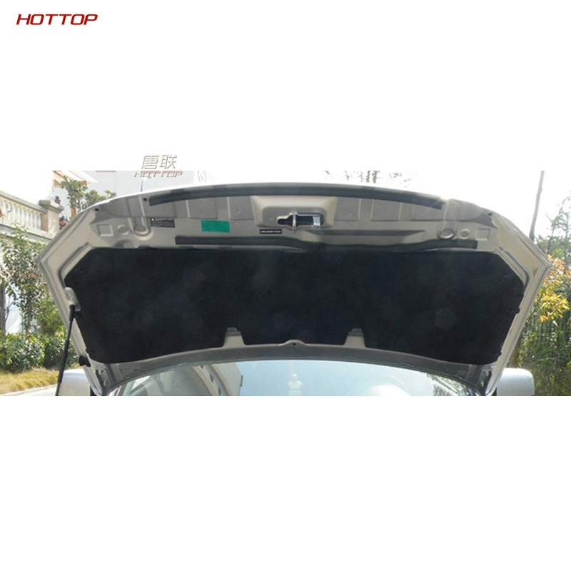 PET Black Front Engine Anti-noise Sound Insulation Cotton Heat Closed Cell Foam For Nissan Qashqai 2008-2015
