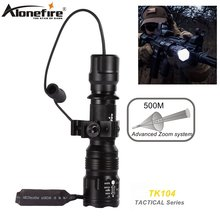 Alonefire tk104 xm l2 светодиодный зум Профессиональный тактический