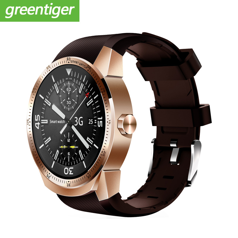 K98H 3G Smart Watch Android 4.1 OS MTK6572A RAM 512MB ROM 4G Support nano SIM Card GPS WIFI Heart Rate Men Smart wristwatch-in Smart Watches from Consumer Electronics    1