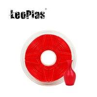LeoPlas 1kg 1.75mm 유연한 소프트 레드 TPU 필라멘트 FDM 3D 프린터 펜 소모품 인쇄 용품 고무 소재