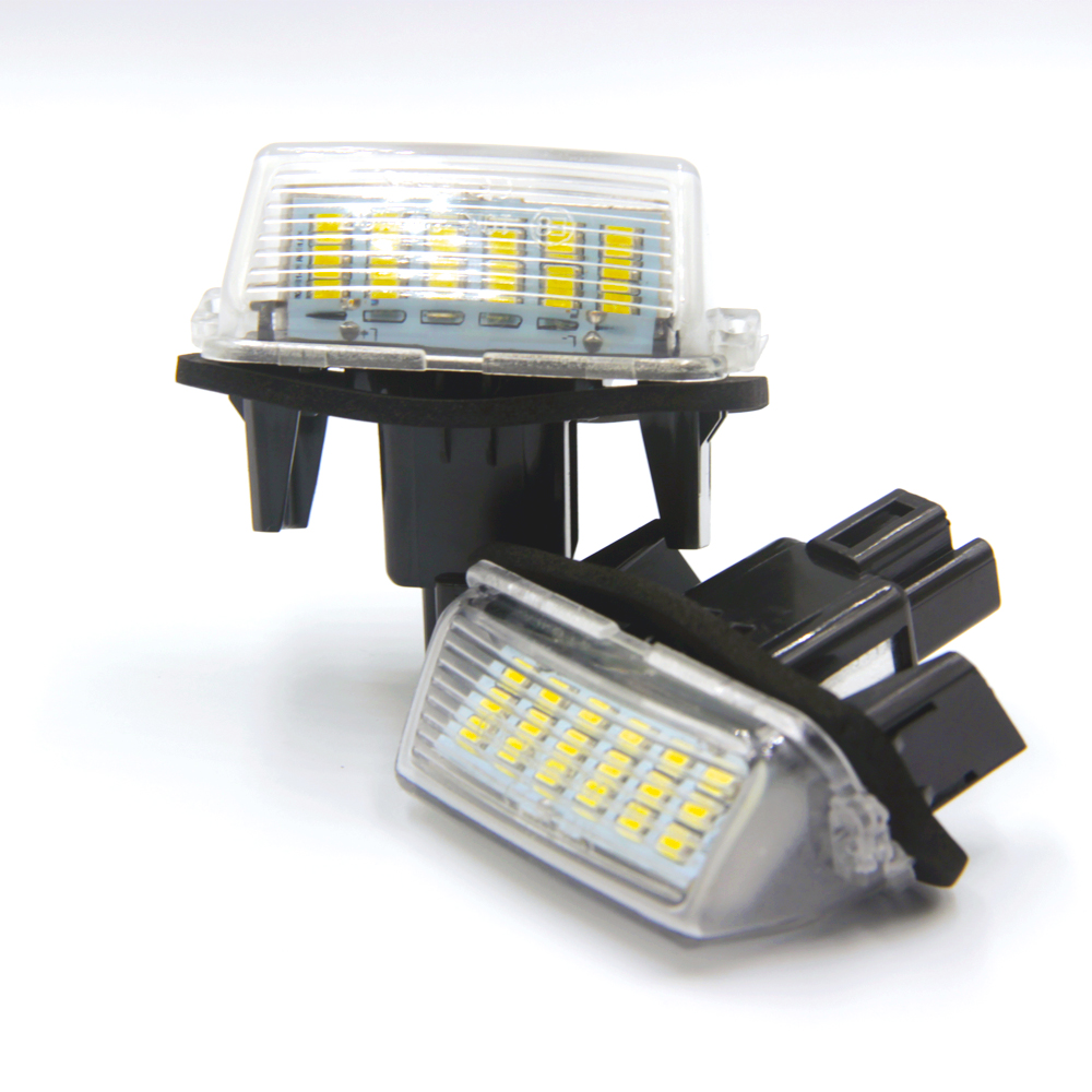 Car <font><b>LED</b></font> number License Plate Lights it For Toyota Camry <font><b>LED</b></font> Number fit For <font><b>Peugeot</b></font> Citroen 206 207 306 307 406 <font><b>407</b></font> C3 FOR yaris image