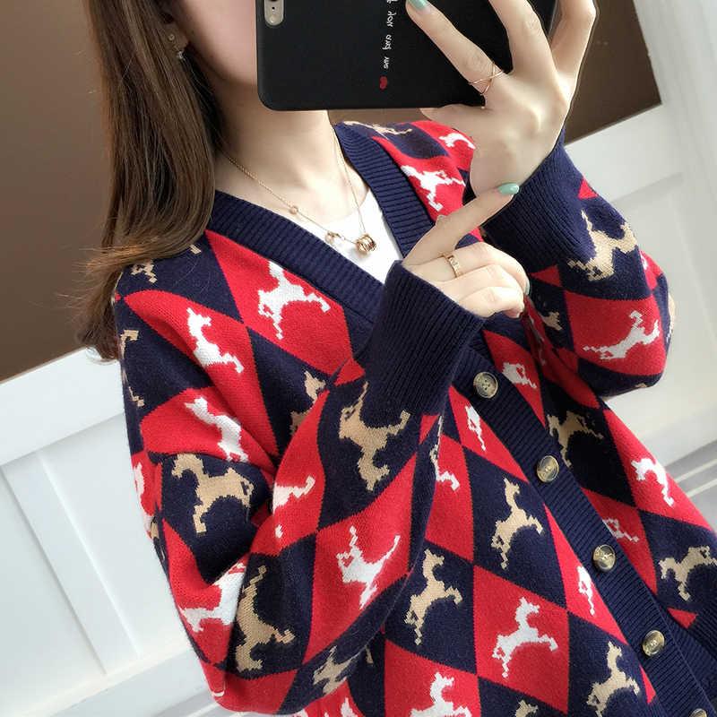 Cárdigan primavera otoño suéter mujer ropa 2020 coreano Vintage chaqueta Streetwear mujeres suéteres tapas Casaco Feminino ZT3055