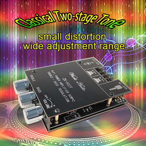 Image 5 - דיגיטלי TPA3116D2 Bluetooth 5.0 סאב מגבר לוח 2.0 ערוץ כוח אודיו סטריאו מגבר לוח 2*50W בס AMP ZK 502T