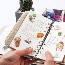 1PCS High quality Vintage fabric loose-leaf notebook A5/A6 Travelers book loose leaf spiral paper diary plan Notebook