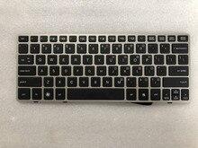 NEUE FÜR HP EliteBook 2560 2560p Tastatur UNS Silber rahmen 696693 001 691658 001