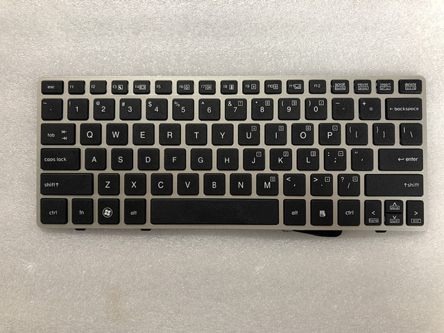 NEW FOR HP EliteBook 2560 2560p Keyboard US Silver frame 696693 001 691658 001