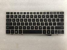 Nowy dla HP EliteBook 2560 2560p klawiatura US srebrna ramka 696693 001 691658 001