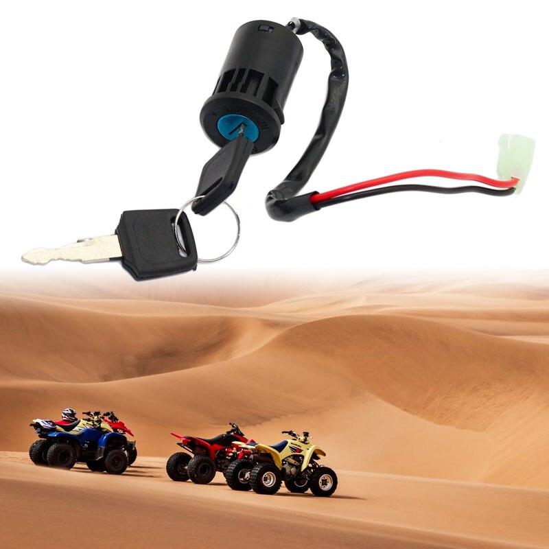 1 conjunto atv interruptor chave de ignição universal 2 fios chaves de ignição iniciar interruptor de bloqueio chave para atv go kart scooter motocicleta etc 2019