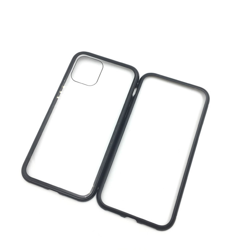 Qianliyao Gehard Glas Metalen Bumper Magnetische Telefoon Case Voor Iphone 11 Pro Max X Xr Xs Max 7 8 Plus 6 6 S Magnetische Mobiele Cover Passende hoesjes    - AliExpress