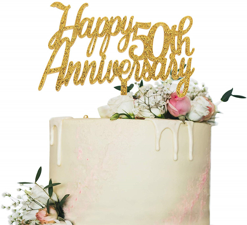 Tremendous C493A5 Buy 50Th Anniversary Cake Toppers And Get Free Shipping Funny Birthday Cards Online Ioscodamsfinfo