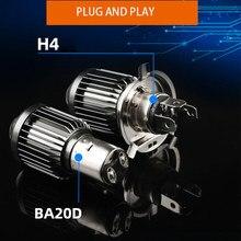H6 BA20D LED H4 Led Moto Motorcycle Headlight Bulb CSP Spotlight 12V Motos Accessories Hi Lo Lamp Fog Light White Yellow