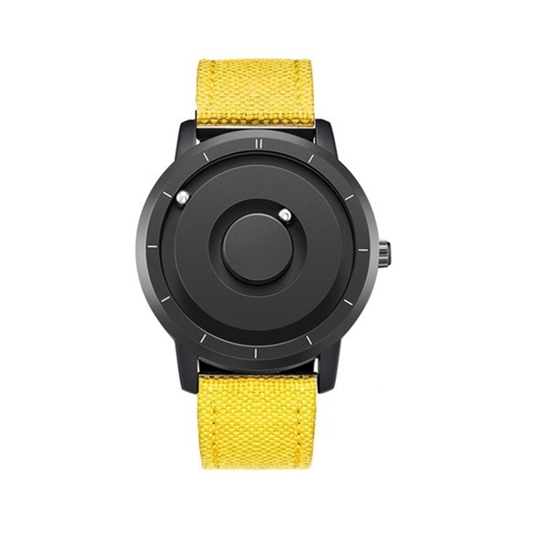 EUTOUR New Innovative Blue Gold Magnetic Metal Multifunctional Watch Men's Fashion Sports Quartz Watch Simple Men's Watch 10