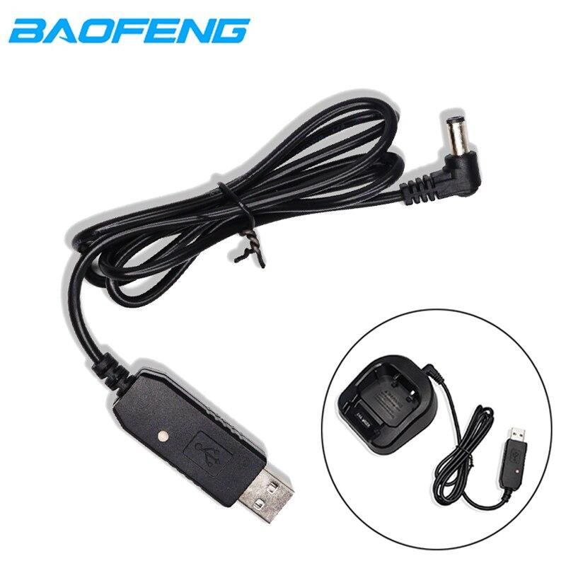 Original Baofeng USB Charging Cable Walkie Talkie Base Charger Wire Cord For UV-5R/UV 5R Pro/UV-82/UV-9R Plus/UV-6R/UV3R Radio