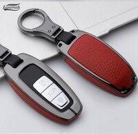 De alta calidad de aleación Galvanizada de cuero soporte de funda para llave para AUDI A8 A7 A6 C8 Q8 2018 inteligente 2019 FOB protección para llaves de