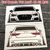 1pcs For Audi Sline S3 A3 8V 8P RS3 Rear Trunk Car Sticker Decals Windshield Window Fuel Cap Reflective Vinyl Wrap Trim Sticker
