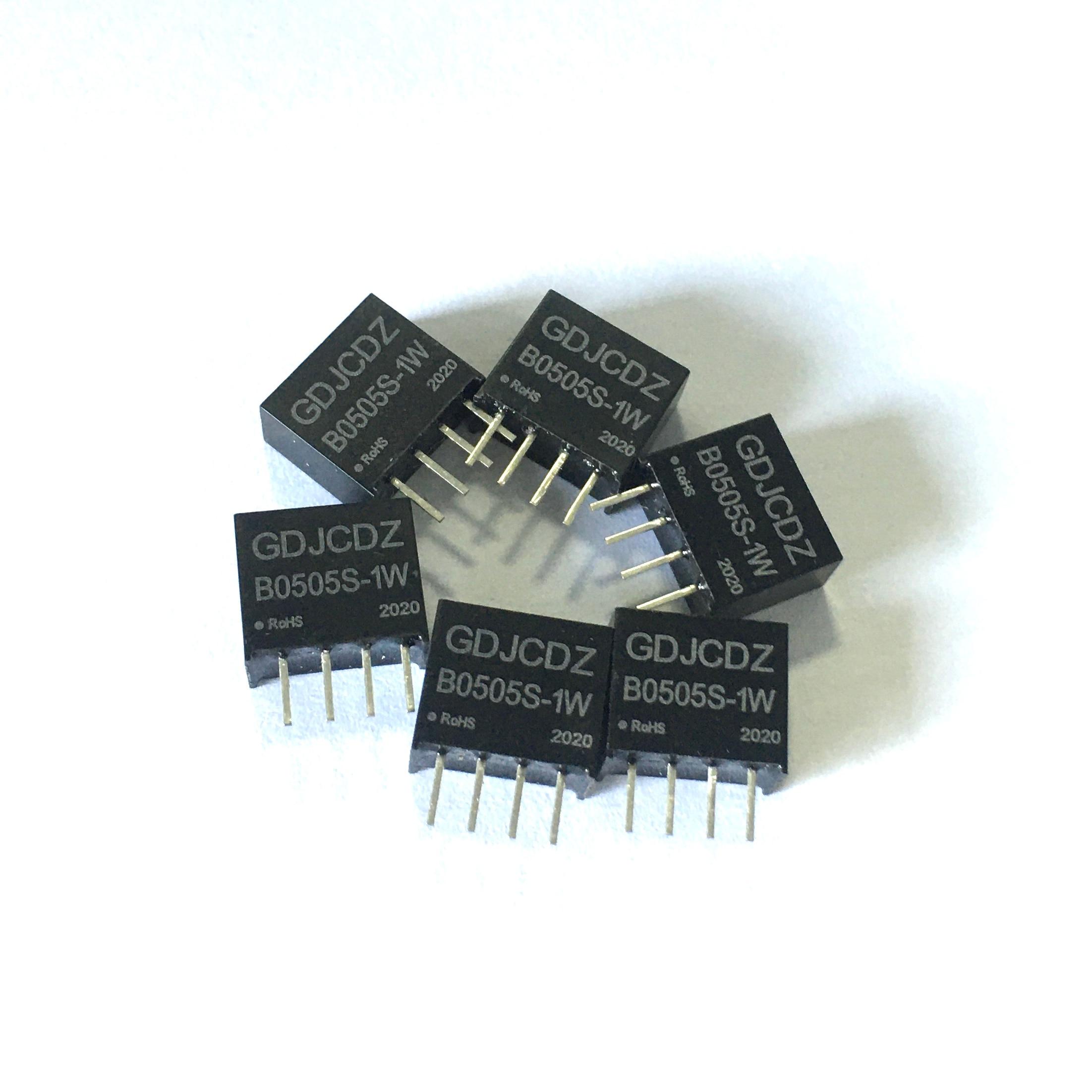 A7 -- B0505S-1W DC-DC conversor isolado galvânico 5 v a 5 v módulo de alimentação 4 pinos módulo de alimentação