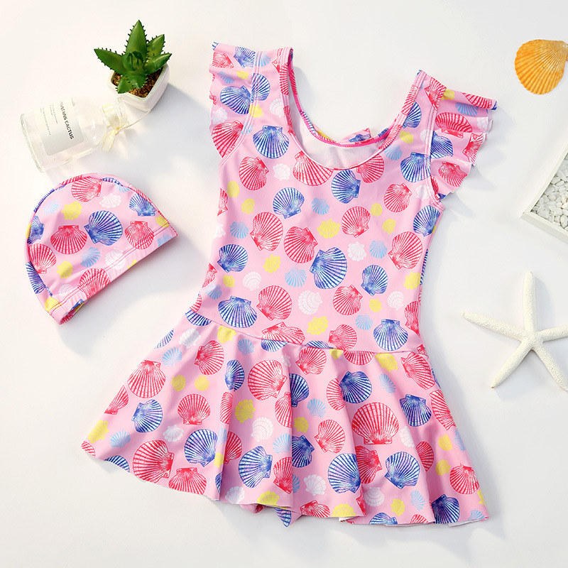 KID'S Swimwear Women's Girls Big Boy Baby One-piece Princess Dress-Cute Small CHILDREN'S Infant GIRL'S Swimming Suit